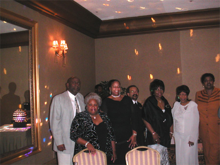 Bill Lugent '71 ,Helen Smith '71, Karen Kennedy '75, Joe Mouton '70, Judy Taylor '67, Gennetta Byrd'66, Ramonda Mustiful'71